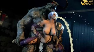 [3D] Ivy Cum inflated by the beast