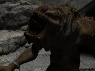 Rancor zjada animację Oola - Vore