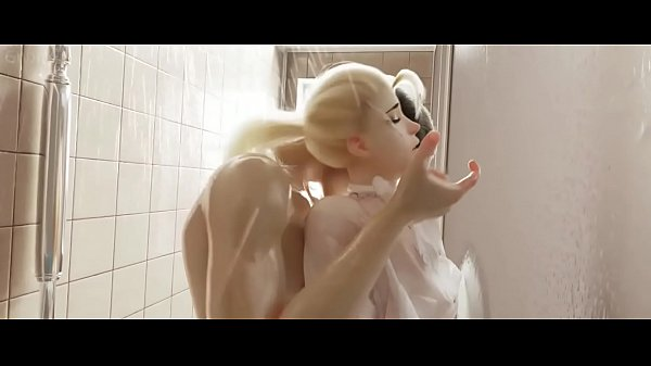 Overwatch Sluty Mercy caugth in the shower. Insane shower fucking