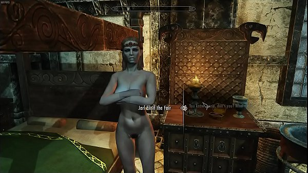 Skyrim Jarl Elisif enjoys a threesome with a subject and Taarie
