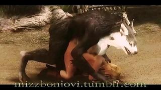 Elfa es Follada Brutalmente por Loba | Monster 3D
