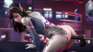 D.va Asshole With A Vibrator Machine By Fpsblyck (looped)
